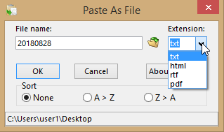 paste it in file