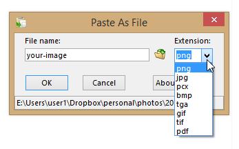 paste as file